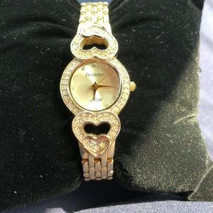 Armitron Gold and Crystal watch. GUC